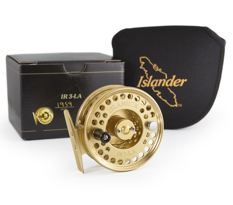 IR3LA reel with box and pouch